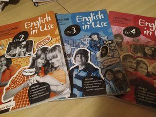 Libros de inglés de 2°, 3° y 4° de la eso