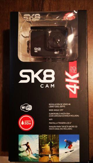 Cámara deportiva SK8 CAM 4K sin estrenar garantía