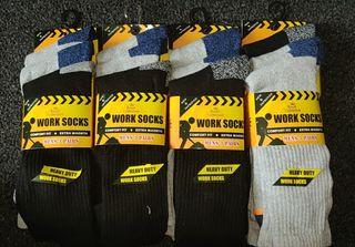 12 Pack Men's Work Socks