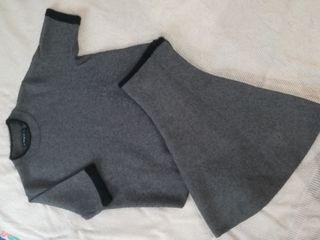 conjunto falda y jersey de Zara