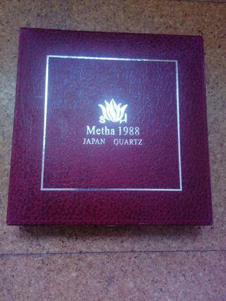 Reloj intercambiable Metha 1988 Japan Quartz