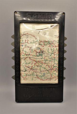 Antiguo mapa automático para automovilistas Somen