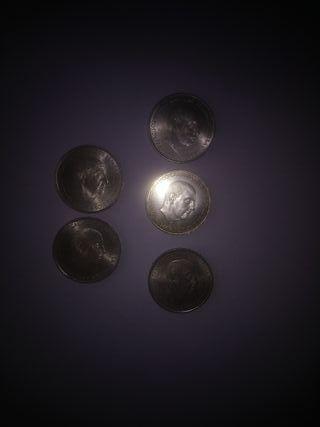 5 monedas de plata Franco 1966