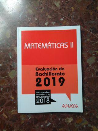 Matemáticas II Evaluación de Bachillerato 2019