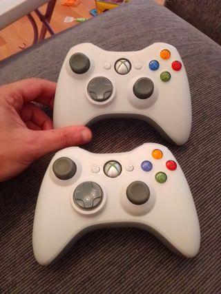 Mandos Joysticks Blancos Inalámbricos Xbox360