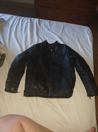 chaqueta de cuero niño negra