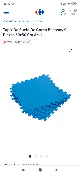 Tapiz de Suelo de Goma Bestway 50x50 cm (Azul)