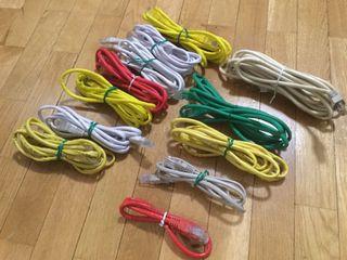 Pack de cables RED UTP CAT 5e y 6 de 1,2,3 metros