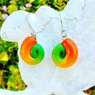 Colourful swirl earrings