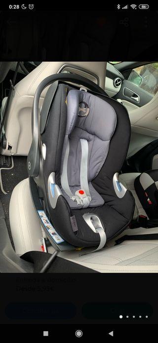 Silla auto bebé Grupo 0 Cibex con base Isofix