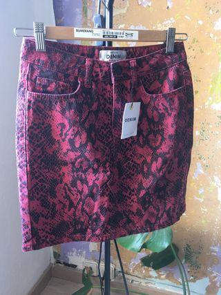 Falda tejana animal print talla 34