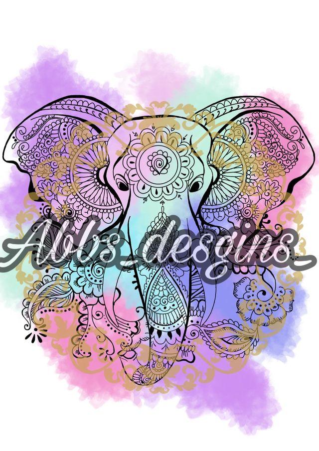 Elephant A4 poster