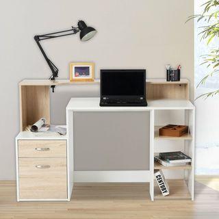 Mesa de Ordenador PC 140x55x92cm Despacho Escritor