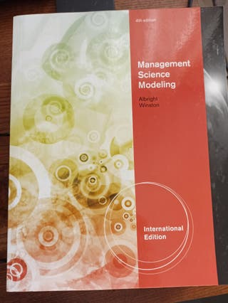 management science modeling Albright