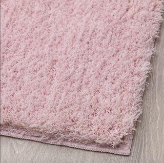 Alfombra Ikea pelo rosa NUEVA