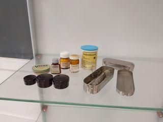 lote medicamentos y accesorios medicina antiguo