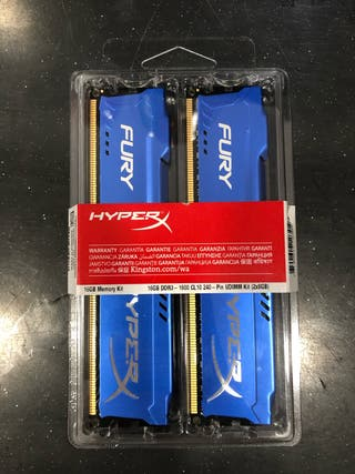 HyperX Fury 16 GB (1600 MHz DDR3)