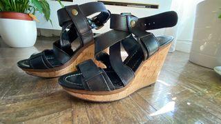 Sandalias de Zara con plataforma