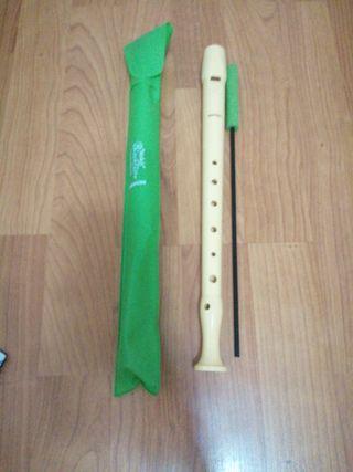 Flauta dulce con funda y limpiador