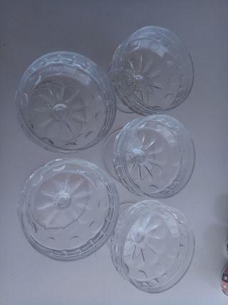 Vintage heladeras de cristal