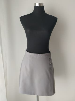 Mini falda gris elegante