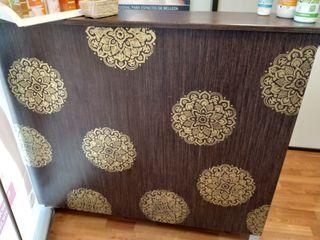 Mostrador de madera wengue