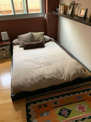 Futon japones sobre cama tatami