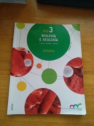 Libro Bioloxía e Xeoloxía 3°ESO