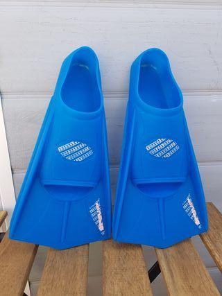 Aletas cortas talla 37/38 azul