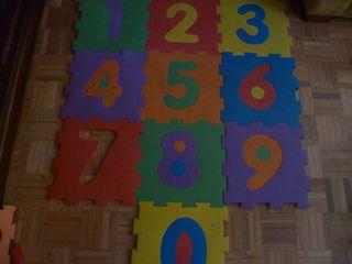 Alfombra puzzle números infantil