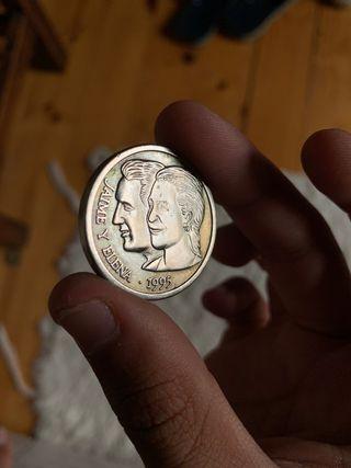 Moneda conmemorativa boda Jaime y Elena