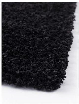 Alfombra pelo largo Negro Ikea Hampen