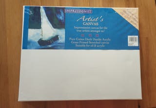 A pack of 3 unopened Impressionist canvas.