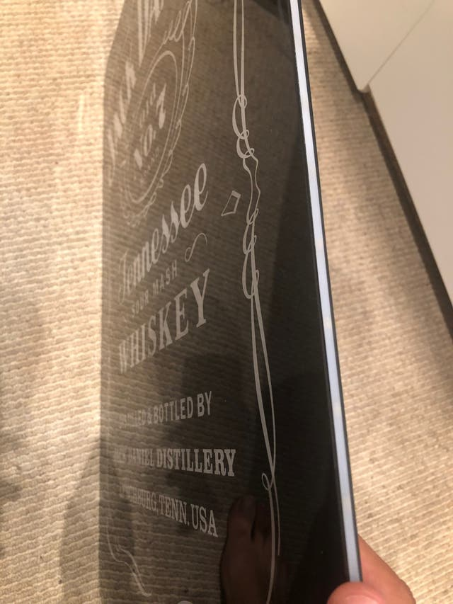 lighted wall sign large Jack daniels