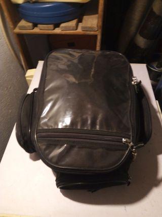 bolsa grande para la moto con dos pisos
