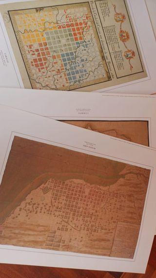 Ciudades de América - Planos manuscritos
