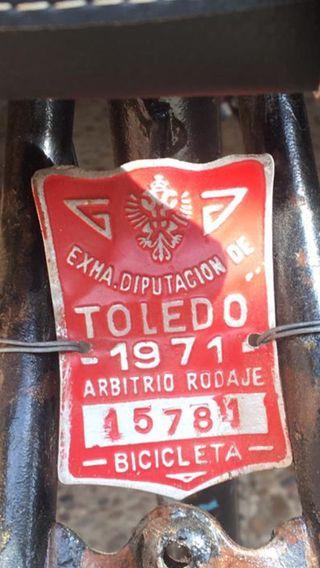 Matrícula 1971 bicicleta clásica