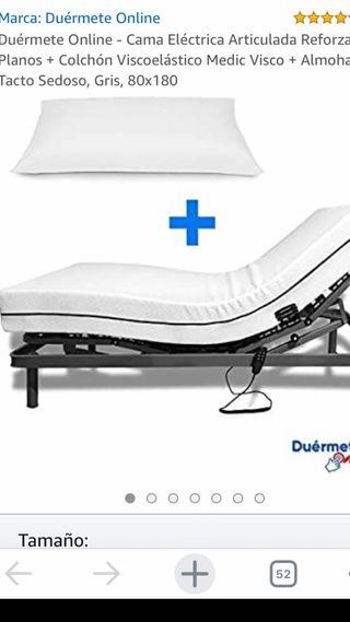 Colchón visco para cama articulada 80x180