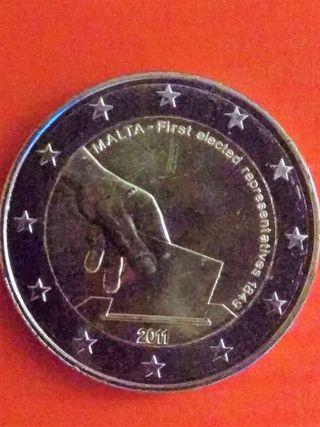 Moneda 2€ conmemorativa Malta 2011