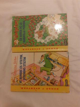 libros infantiles Geronimo Stilton n°1 y 2.