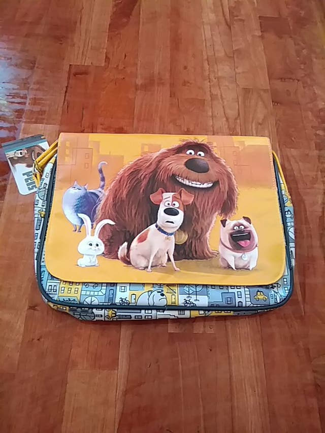 vuelta al cole bolsa bandolera peli mascotas