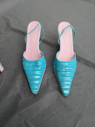Zapatos fiesta tacon medio.