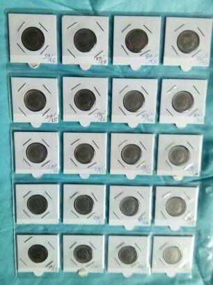 monedas antiguas de la epoca de franco