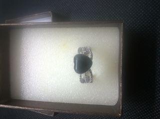 Vintage Love 4,4ct Black Onyx 925 Sterling Sil