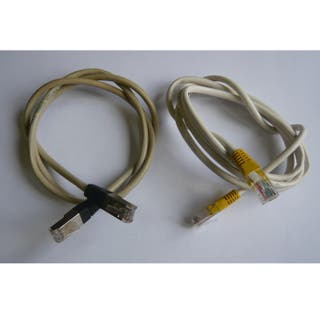 2 Cables red Ethernet, conector RJ45, 1 y 1,5m