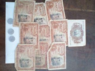 Billetes de 1 peseta año 1953