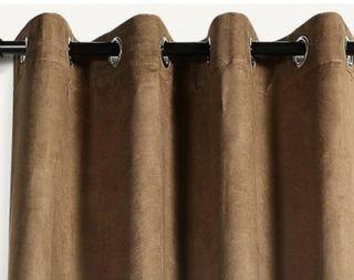 Cortinas terciopelo marrón. IKEA Sanela