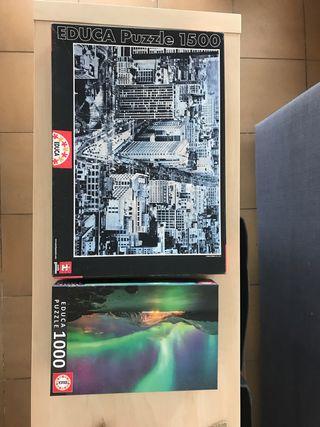 Kit de 2 puzzles Educa (1500 y 1000 piezas)