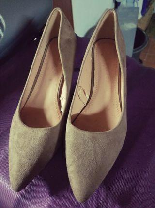 zapatos color camel ante nuevos nunca usados