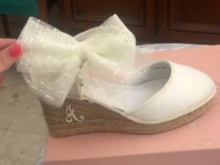 Zapatos de novia esparto personalizado